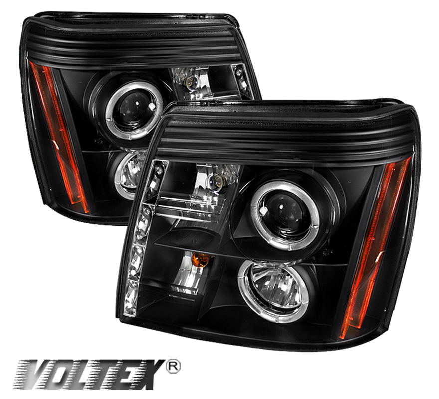 2002-2006 CADILLAC ESCALADE HID DRL HALO LED PROJECTOR