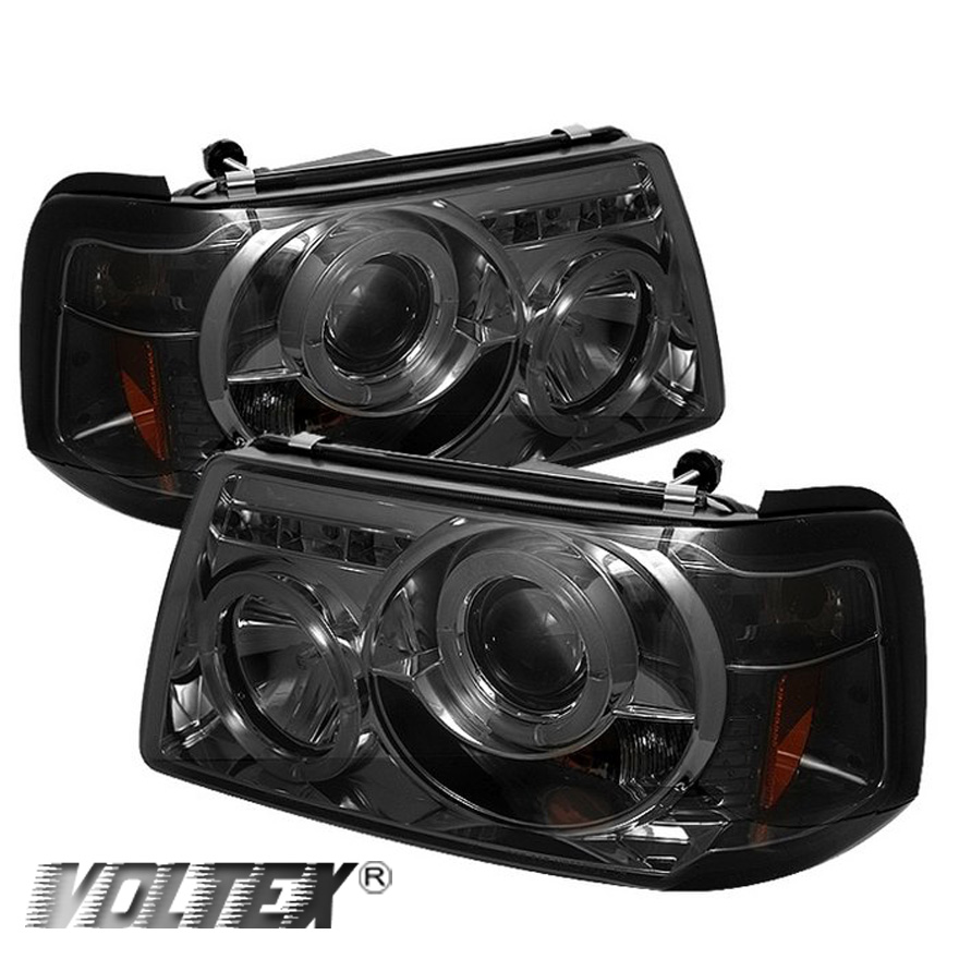 Ford Ranger Projector Headlights : Ford ranger halo led projector headlights