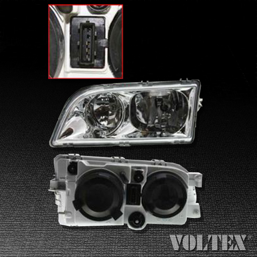 Details About 2000 2004 Volvo S40 V40 Headlight Lamp Clear Lens Halogen Driver Left Side